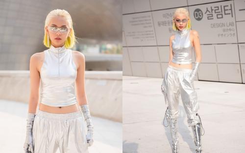 Phí Phương Anh công phá 'Seoul Fashion Week' với cây đồ ánh bạc chất phát ngất