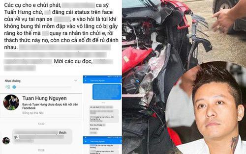 Tuấn Hưng trực tiếp nhắn tin 'dằn mặt' người 'đá đểu' mình về siêu xe 16 tỷ gặp tai nạn, còn đây là phản ứng của cộng đồng mạng
