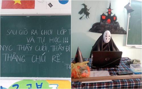 Khi thầy giáo 'đua trend': Người nghỉ dạy dự đám cưới người yêu cũ, kẻ hóa thành quỷ sứ mùa Halloween