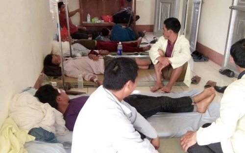 42 người ở Lai Châu ăn thịt trâu bị ngộ độc, trong đó có 1 cháu bé mới 20 tháng tuổi