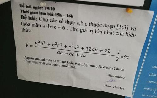 Tưởng đùa mà có thật, học sinh An Giang phải giải toán để có mật khẩu dùng Wi-Fi miễn phí ở trường