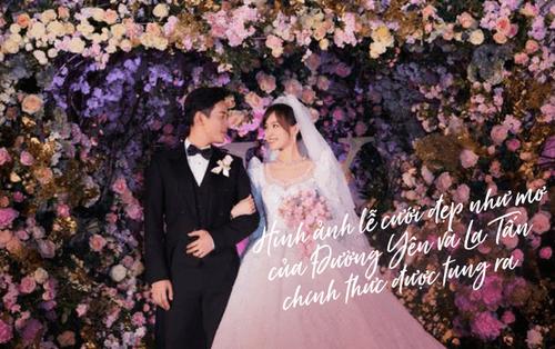 Hình ảnh lễ cưới đẹp như mơ của Đường Yên và La Tấn chính thức được tung ra