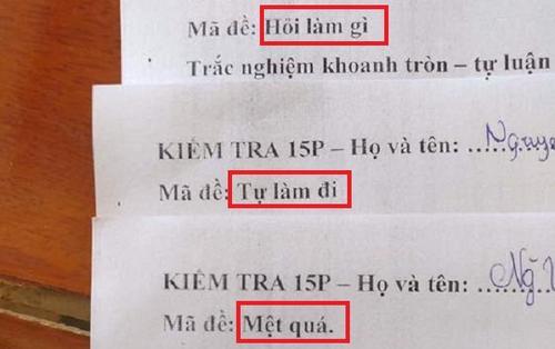 Khóc thét với loạt mã đề 'bá đạo' của giáo viên khiến học trò chỉ biến câm nín 'từ giờ hết cả trao đổi bài'