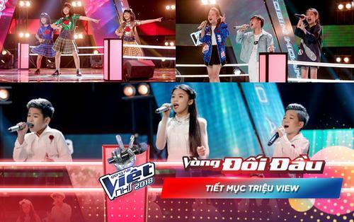 Những cặp Đối đầu 'triệu view' 'oanh tạc' sân khấu chương trình The Voice Kids 2018