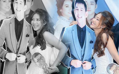Vắng 'chú rể' Song Luân, Khả Ngân vẫn cười tít mắt dù là cô dâu lẻ loi trong đám cưới tập thể của 'Hậu duệ mặt trời' Việt Nam