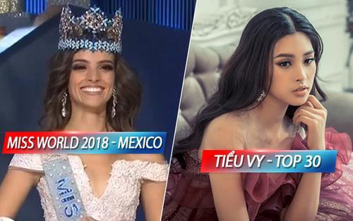 Chung kết Miss World 2018: Fan Việt bất bình khi Tiểu Vy rớt khỏi Top 12, người đẹp Mexico đăng quang