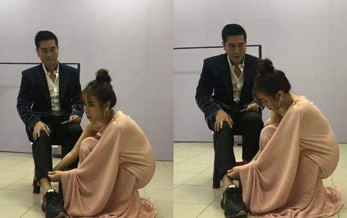 Lưu Hương Giang từ vợ hiền hoá thân 'soái tỉ', 'nâng khăn sửa túi' cho Hồ Hoài Anh sau hậu trường