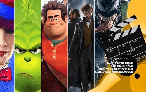 Năm 2018 trở thành năm thành công nhất về doanh thu trong lịch sử điện ảnh Hollywood