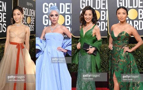 Thảm đỏ 'Quả Cầu Vàng 2019': Lady Gaga - Dương Tử Quỳnh nổi bật, mỹ nhân gốc Việt khoe vòng một khủng