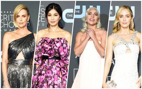 Thảm đỏ Critics' Choice Awards 2019: Charlize Theron quyến rũ bên Lady Gaga, Emily Blunt