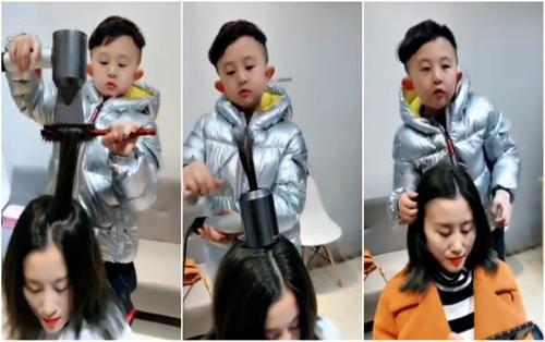 Bé trai 6 tuổi nổi khắp mạng xã hội nhờ tài cắt tóc điêu luyện
