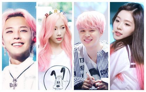 Những thần tượng Hàn Quốc xinh lung linh với màu tóc nhuộm hồng