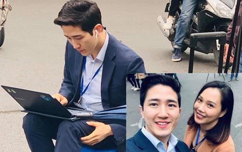 Nam phóng viên Hàn Quốc cực điển trai trong bộ vest bảnh bao khiến hội chị em 'loạn nhịp tim'