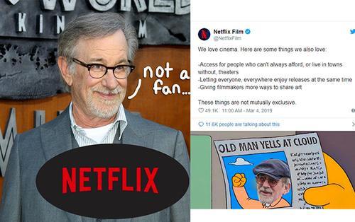 Bị 'lão đại' Steven Spielberg công khai chống đối ra mặt, Netflix lên tiếng phản hồi