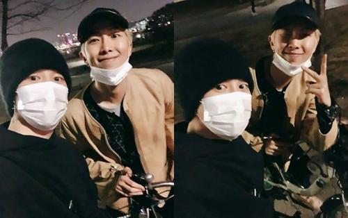 Không vướng bận thị phi, các chàng BTS thong dong đạp xe dạo phố trước thềm comeback