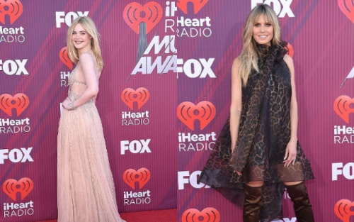 Siêu mẫu Heidi Klum và 'tiên nữ' Elle Fanning rực rỡ trong váy áo lung linh