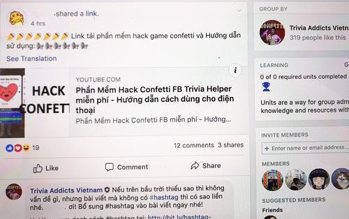 Người chơi Confetti Việt Nam truyền tay nhau ứng dụng hack câu trả lời: Khi trò chơi biến tướng sang gian lận!