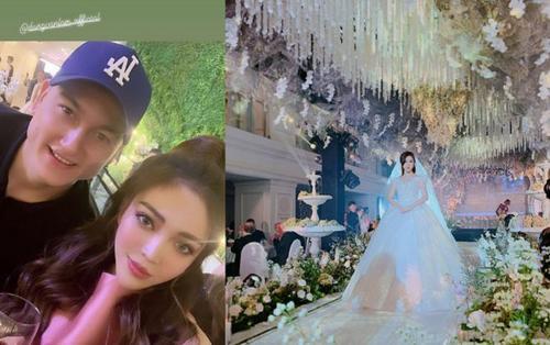 Đám cưới hoành tráng của Rich kid Trinh Hoàng, có thủ môn soái ca Lâm Tây bay từ Thái Lan về dự