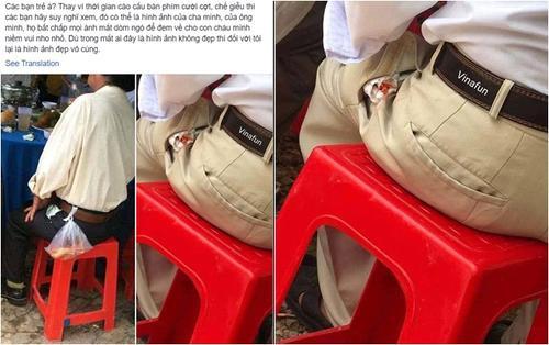 Bức ảnh chụp con tôm bọc giấy ăn nhét trong túi của người đàn ông đi ăn cỗ lấy phần bất ngờ được chia sẻ lại khiến nhiều người cay mắt