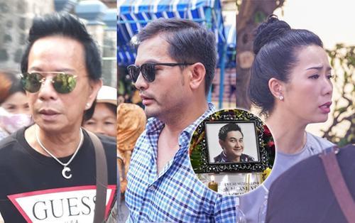 Danh hài Bảo Chung - siêu mẫu Đức Tiến thất thần, Trịnh Kim Chi nghẹn nước mắt tại lễ tang Anh Vũ