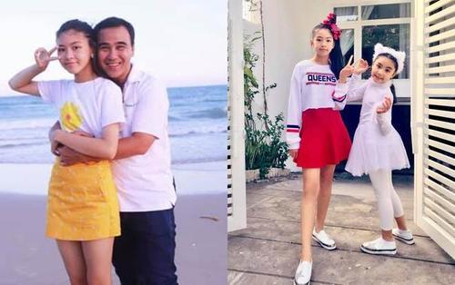Con gái Quyền Linh mới 14 tuổi đã xinh như hoa hậu thậm chí cao hơn cả bố