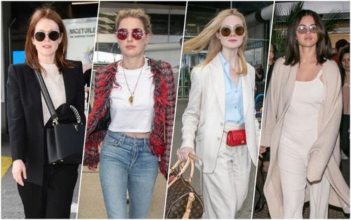 Selena Gomez, Amber Heard, Elle Fanning đọ sắc cùng Julianne Moore tại sân bay đến LHP Cannes 2019