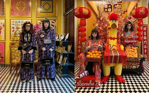 Cặp mẹ con người Thái diện đồ đôi đắt tiền 'gây sốt' trên mạng xã hội