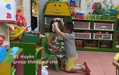 Cậu bé 5 tuổi khiến nhiều thanh niên 'chạy dài' vì hành động 'soái ca' này của mình với bạn gái