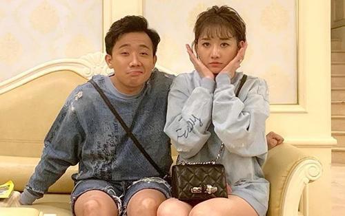 Trấn Thành quyết tâm đọ chân dài bằng được với bà xã Hari Won