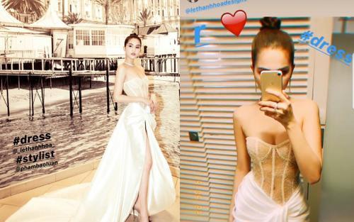 Sau khi hở 99% cơ thể, Ngọc Trinh tiếp tục gây sốc với bộ váy thứ 3 như corset tại Cannes 2019