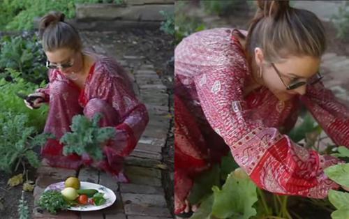 Miranda Kerr không những xinh đẹp mà còn đảm đang, trồng rau sạch trước biệt thự