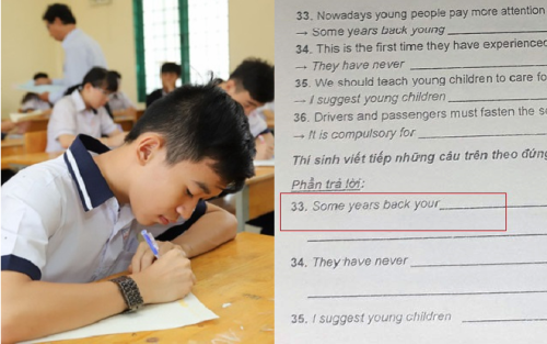 Xử lý vụ việc đề thi tiếng Anh vào lớp 10 TP.HCM sai sót:  Dùng từ 'young' hay 'your' đều đạt điểm tối đa