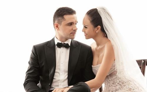 Tung ảnh cưới với ông xã, Phương Mai hài hước 'kết quả dạy chồng khá tốt'