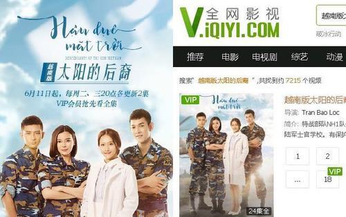 'Hậu duệ mặt trời' bản Việt được IQIYI của Trung Quốc phát sóng