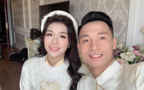 Vợ yêu của Bùi Tiến Dũng trong ngày đính hôn: Xinh đẹp duyên dáng, thuần Việt hết mức