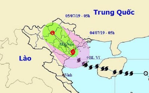 Từ Hải Phòng đến Nam Định có gió giật mạnh, mưa rất lớn sau khi bão số 2 đổ bộ