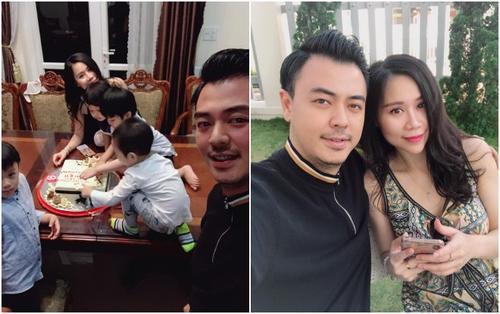 MC Tuấn Tú hạnh phúc được bà xã xinh đẹp tổ chức sinh nhật lần thứ 36