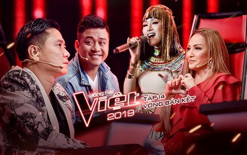 Bán kết The Voice 2019: Thanh Hà 'tranh luận' với 3 nam HLV, Layla áp lực vì 'bị đánh phủ đầu'