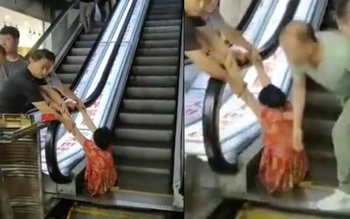 Bị 'nuốt' vào thang cuốn, người phụ nữ phải cắt cụt chân trái