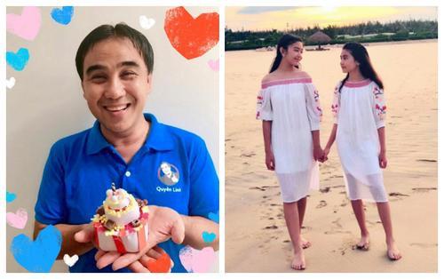 Cười té ghế khi Quyền Linh khoe bánh sinh nhật 'bự chà bá' do chính tay 2 cô con gái làm tặng