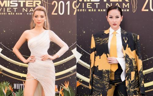 Khả Trang diện váy xẻ cao chót vót khoe chân nuột nà, đối lập Khánh Ngân kín bưng tại sự kiện