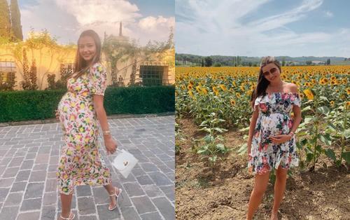 Có ai như siêu mẫu Miranda Kerr tích cực mặc váy ngắn trong suốt thời gian mang bầu lần ba