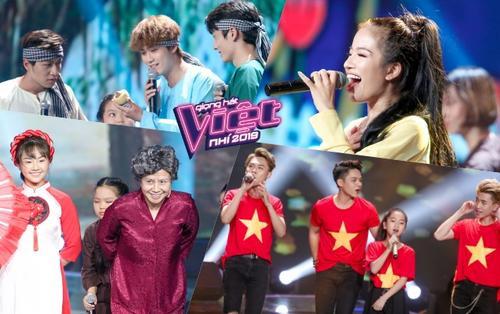 Lâm Bảo Ngọc - Dominix - Vũ Thịnh 'quẩy' tưng bừng cùng Team Lưu Thiên Hương - Ali Hoàng Dương tại The Voice Kids