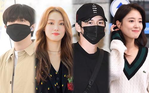 Các thành viên Wanna One cùng đổ bộ sân bay, Lee Sung Kyung xinh đẹp tựa nữ thần