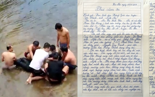 Người mẹ viết tâm thư cảm ơn hai thầy giáo cứu con trai thoát đuối nước