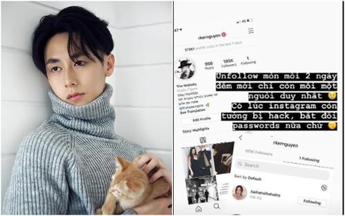 Chiều người yêu như Rocker Nguyễn, bỏ ra 2 ngày đêm để unfollow hết bạn bè trên instagram chỉ để theo dõi độc nhất bạn gái