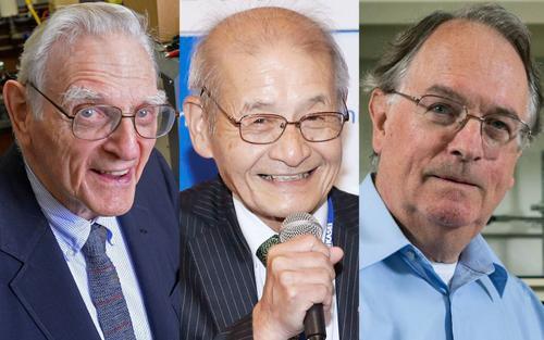 Ba nhà khoa học nhận giải Nobel nhờ pin lithium-ion