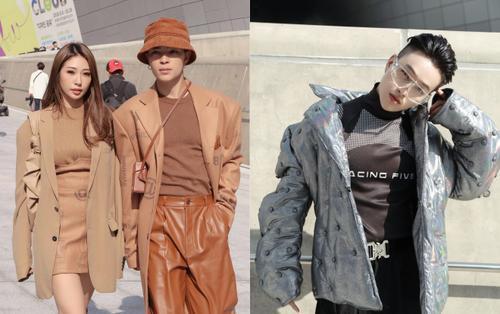Khổng Tú Quỳnh, Kelbin Lei diện đồ hợp tông trầm ấm, cựu trưởng nhóm HKT nổi bật với áo khoác hầm hố tại Seoul Fashion Week