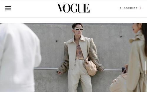 Kelbin Lei xuất hiện trên tạp chí Vogue khi đồng hành cùng Khổng Tú Quỳnh tại Seoul Fashion Week