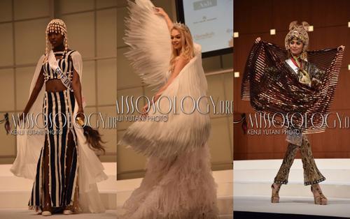 Miss International 2019: Trang phục dân tộc cực gắt của đối thủ Tường San, gây chú ý nhất là ý tưởng đụng độ 'Cò' của Hoàng Thuỳ